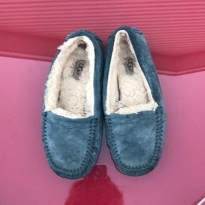 Ugg blue suede loafers size 7